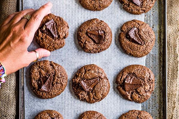 Double chocolate Toblerone cookies