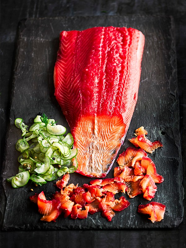 Beetroot Cured Salmon Recipe
