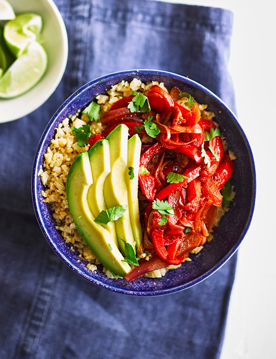 Vegan Fajita Bowl with Cauliflower Rice Recipe