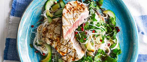 33 healthy low fat recipes olive magazine 33 healthy low fat recipes tuna steak recipe with ponzu sauce and rice noodles forumfinder Images