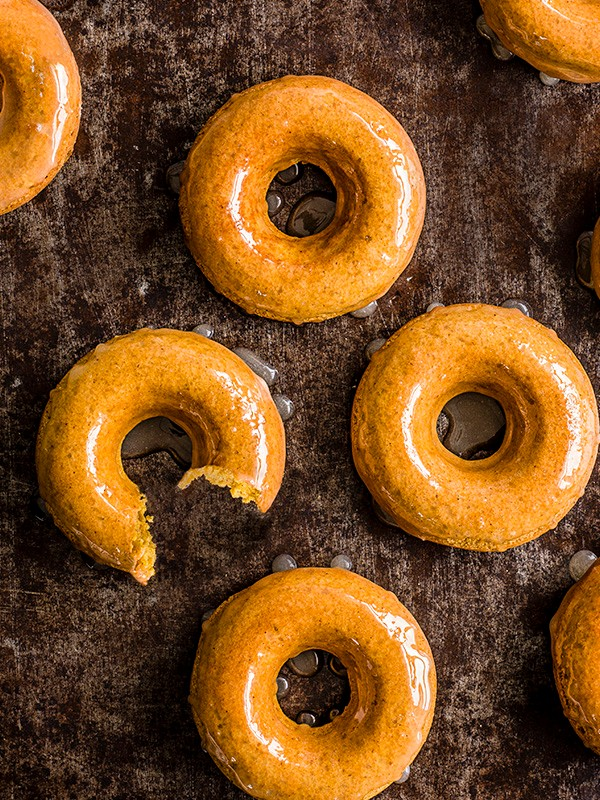 Pumpkin Donuts Recipe With Salted Maple Glaze