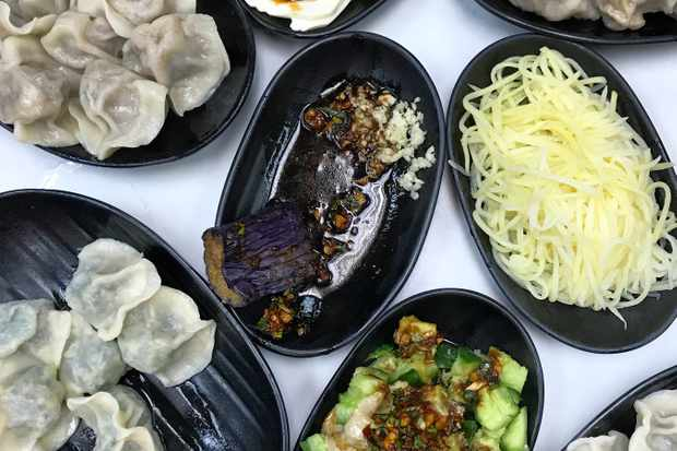 Plates of dumplings at Northern Dumpling Yuan