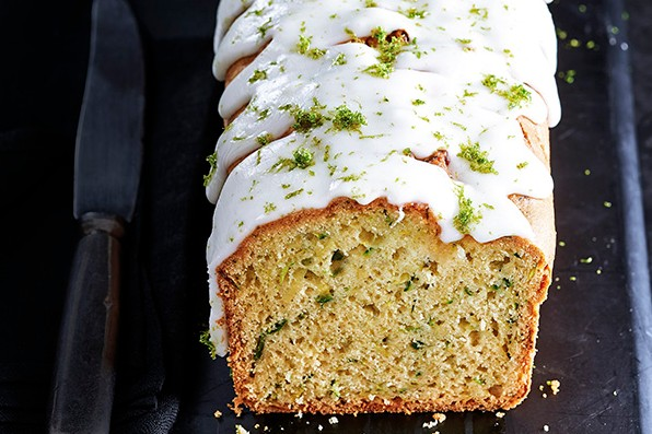 Courgette Loaf Cake With Avocado and Lime
