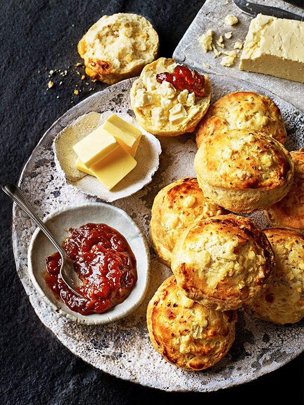 Cheshire cheese and walnut scones