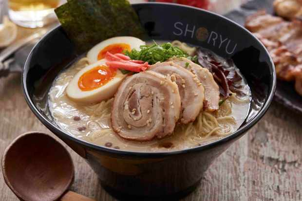 A bowl of Shoryu Ramen