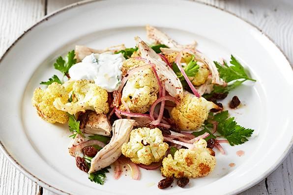 Sumac Roast Cauliflower Recipe with Sumac And Easy Chicken Salad