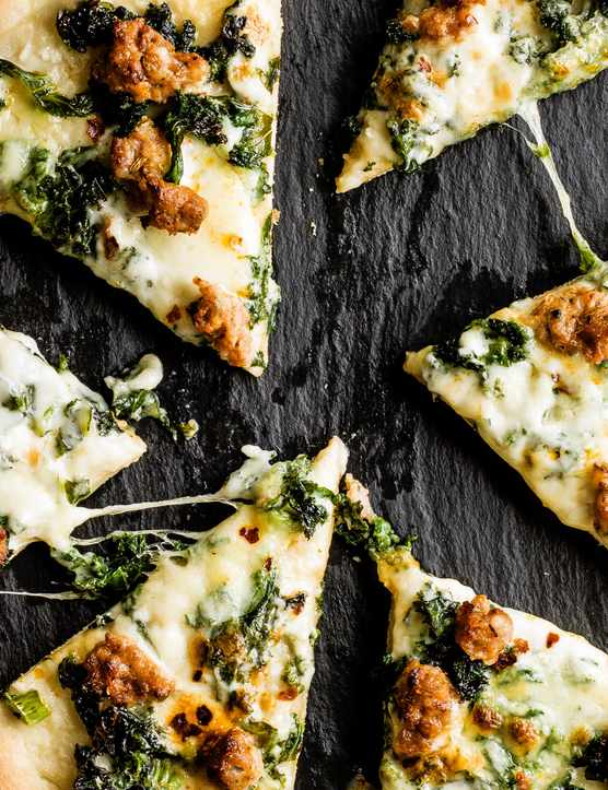 Smoky Sausage Pizza Recipe With Kale