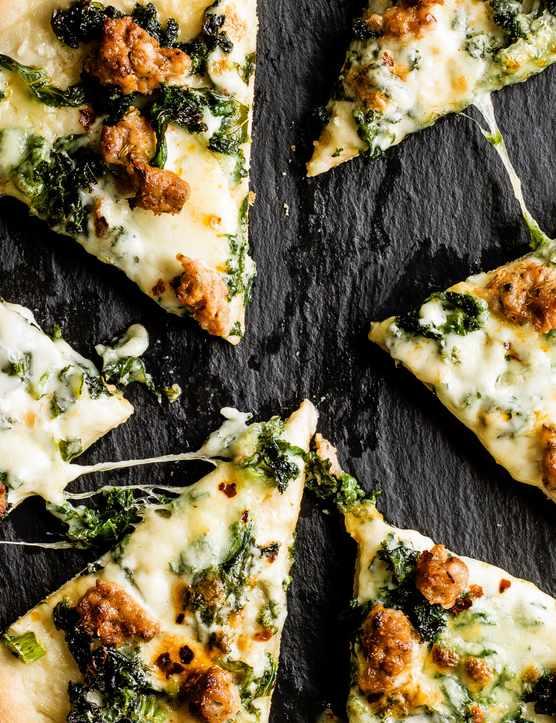 Smoky Sausage Pizza Recipe With Kale