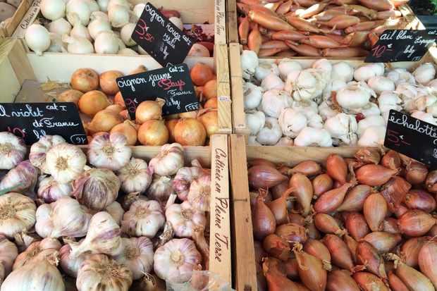 Chamonix market onions and garlic (1)