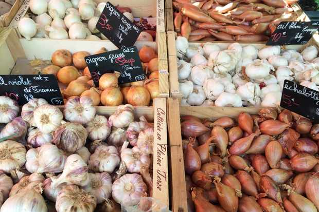 Chamonix market onions and garlic (1)