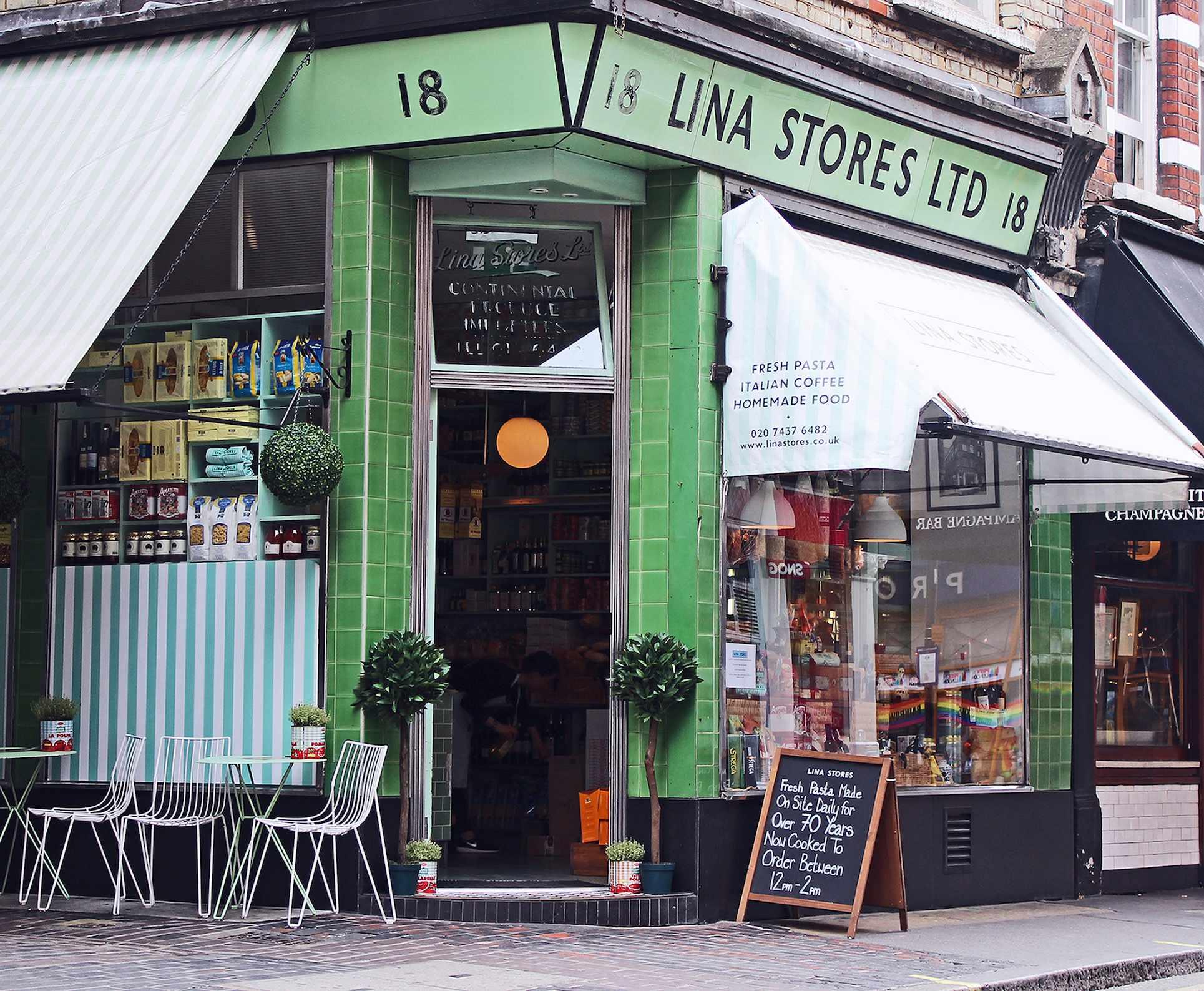 Lina Stores, Soho, London