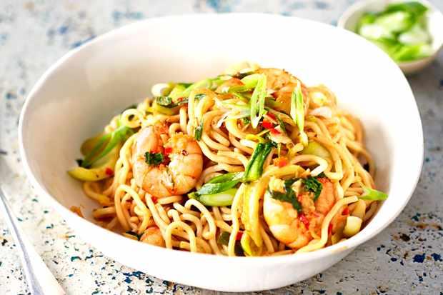 Szechuan Noodles Recipe With Prawns