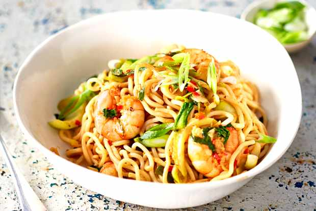 Szechuan Noodles Recipe With Prawns