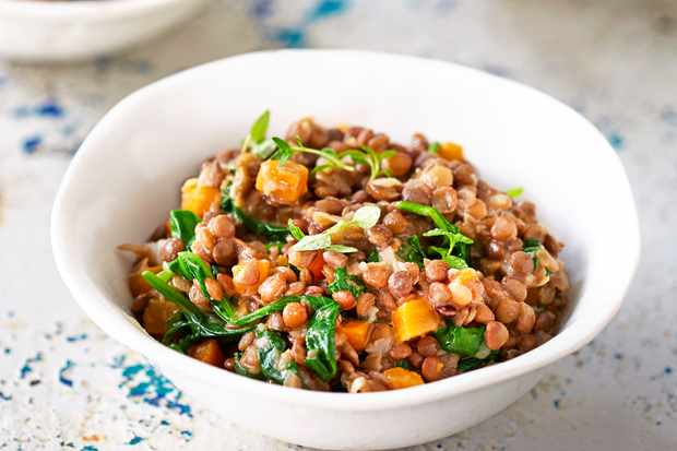 Creamy Lentils Recipe With Spinach And Thyme