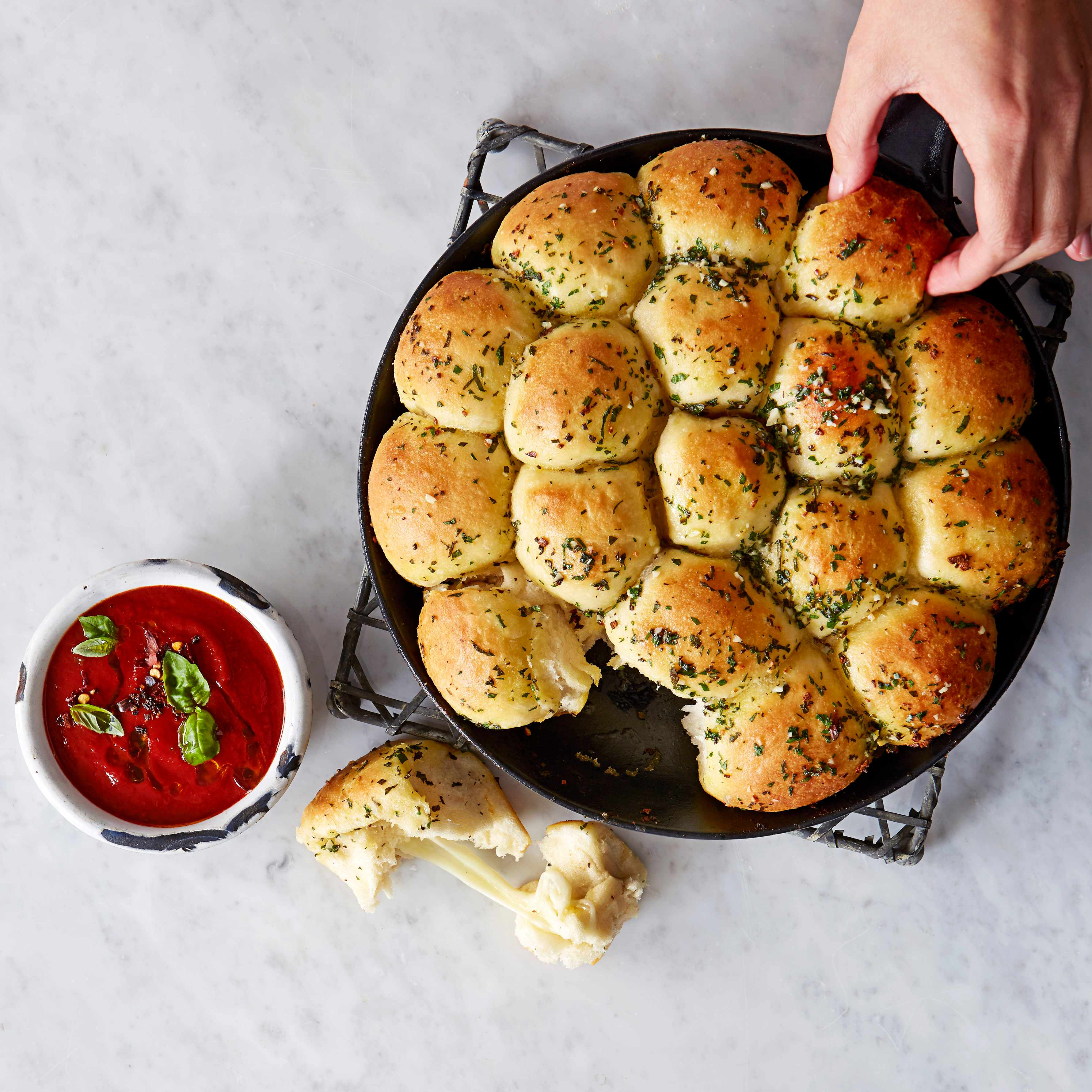 Cheesy garlic dough balls