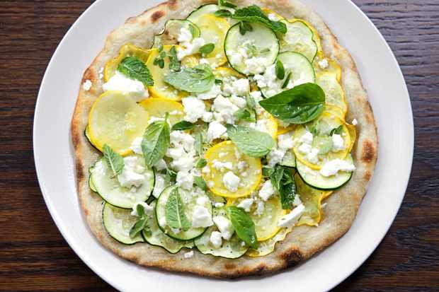 Sourdough, flatbread pizza