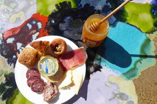 Breakfast at Palazzo Seneca, Norcia, Italy