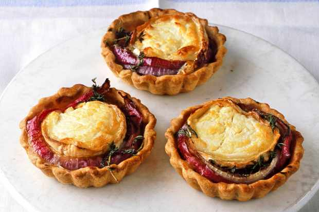 Creamy Goats Cheese And Sweet Red Onion Is Baked On Top Of Shortcrust Pastry With Thyme Balsamic Vinegar A Little Effort But Worth It