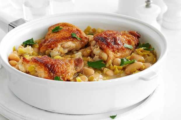 Chicken, leek and Dijon casserole