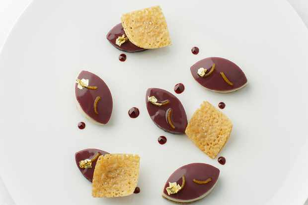 Chocolate dessert at Les Sources de Caudalie