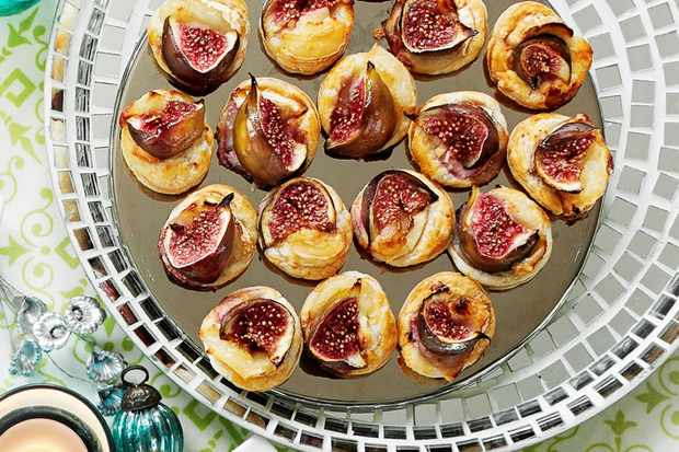 fig and goats cheese puffs