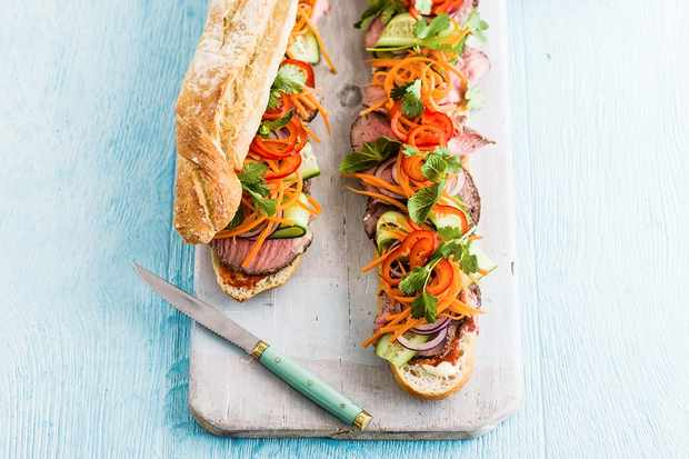 Best ever asian street food recipes olive magazine olive magazine this version is packed with delicious flavours and looks fantastic with so many colourful ingredients take a look at our video recipe for banh mi forumfinder Gallery