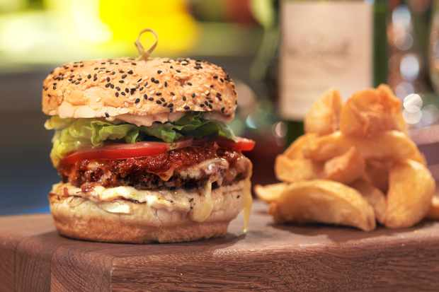 Burgers at Calcot Manor