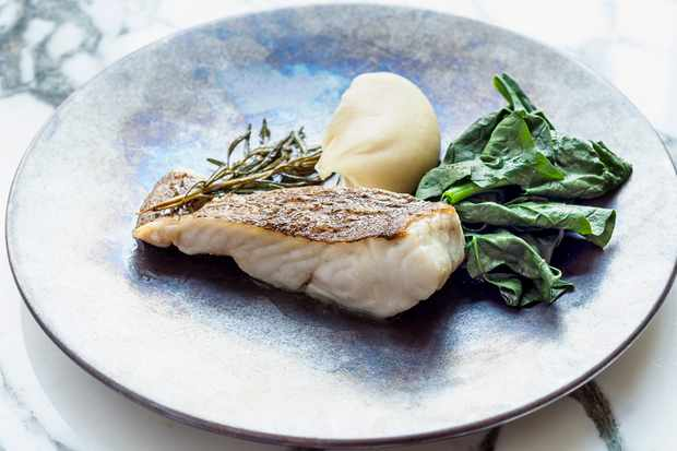 A plate of brill with grapefruit butter and January king cabbage at Ellory, London