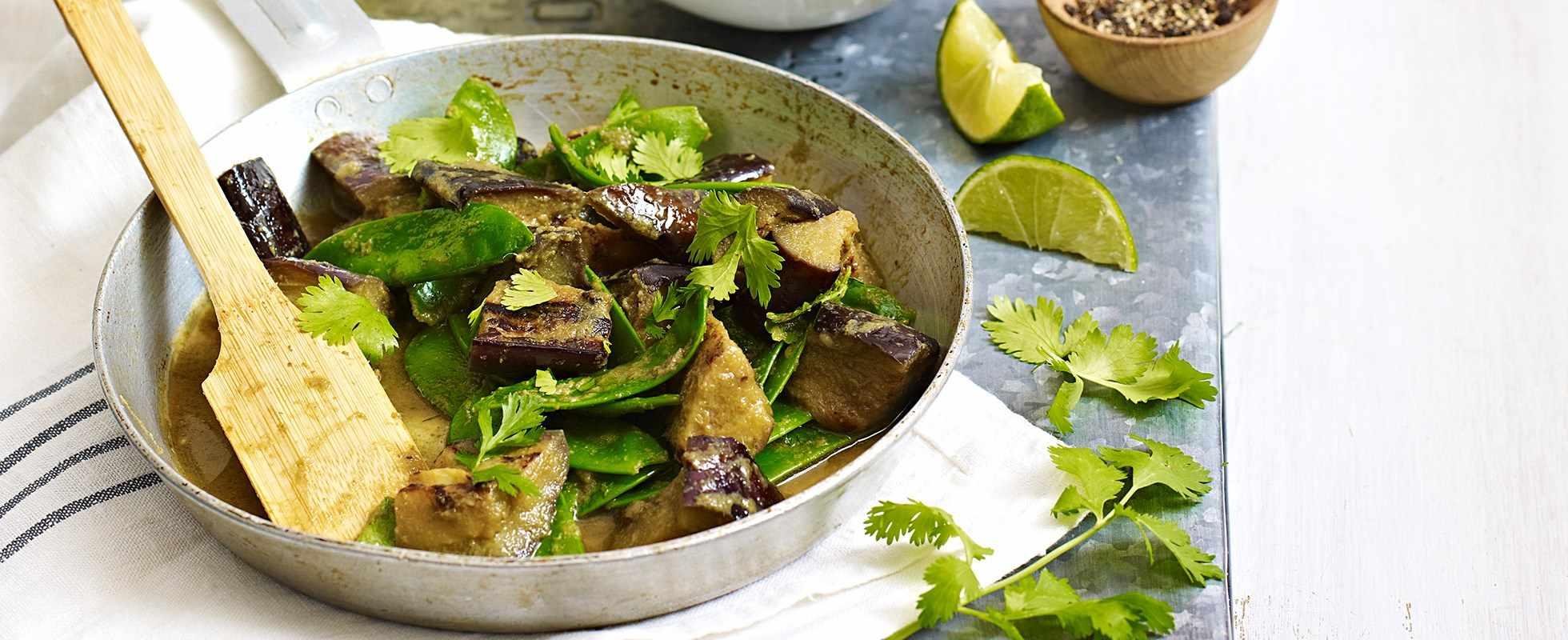 aubergine thai green curry