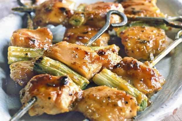Yakitori chicken skewers with miso