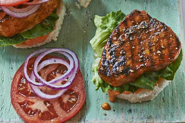 Miami-style blackened fish sandwich
