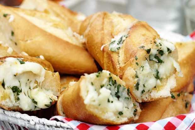 Mozzarella and basil bread
