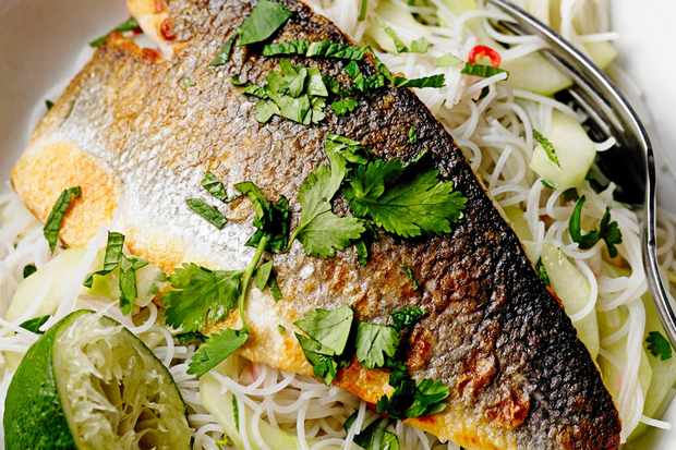 20 easy thai recipes olive magazine olive magazine our light fragrant thai inspired noodle salad with sea bass is a delicious lighter meal sea bass has a superb slight sweet meatier texture which works forumfinder Image collections