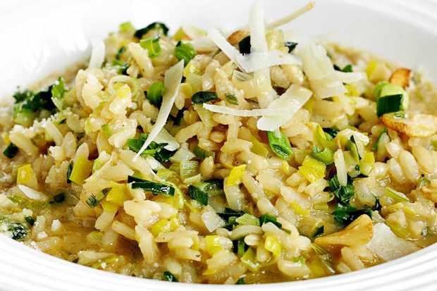 Leek and parmesan risotto