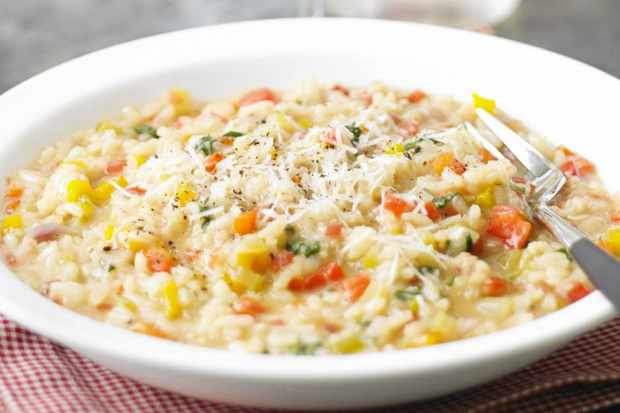 Risotto di peperoni (risotto with peppers)