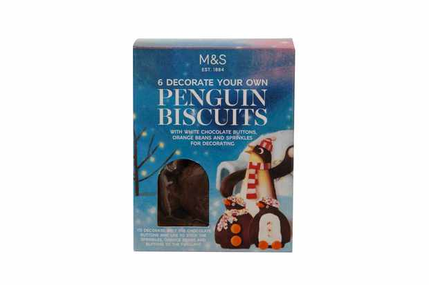 6 Decorate Your Own Penguin Biscuits M&S