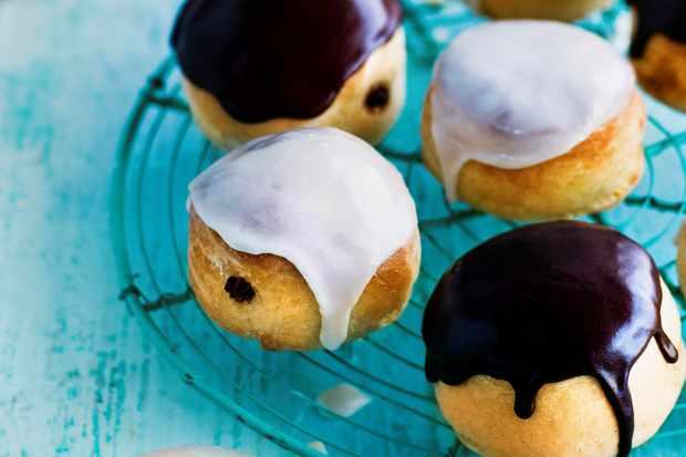 donuts with Baileys glaze