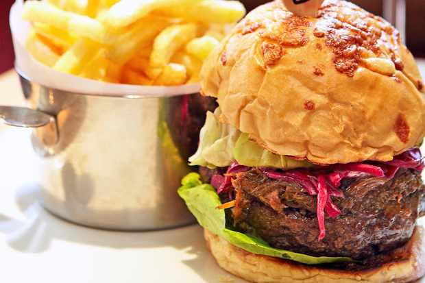 The olive piggy burger