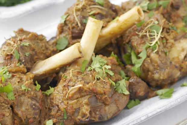 Best ever indian recipes olive magazine an indian twist on an english classic roasted chestnuts and lamb shanks are spiced with chilli powder coriander and garam masala served on the side of forumfinder Image collections