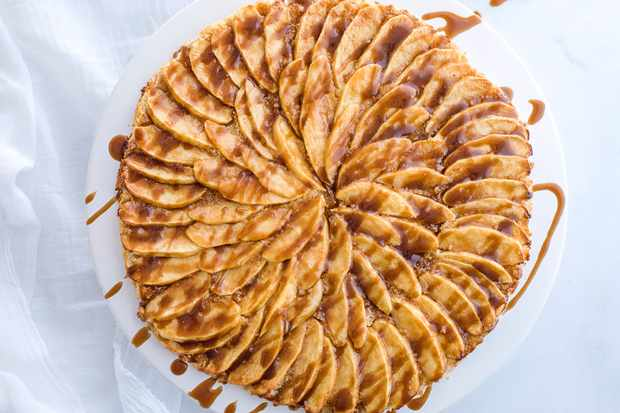 Salted butterscotch apple tart