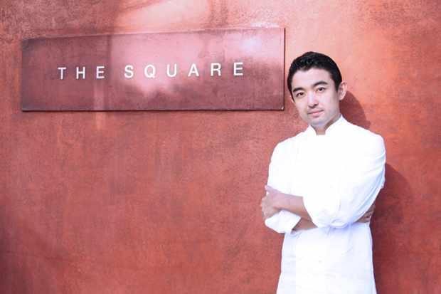 Chef Yu sugimoto at the square london