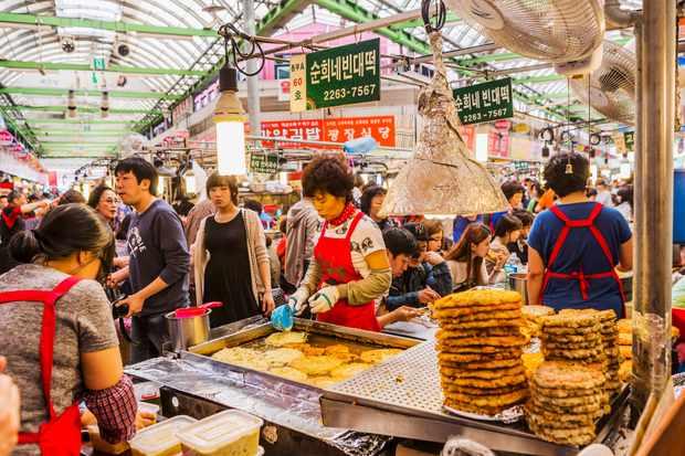 Korean food market