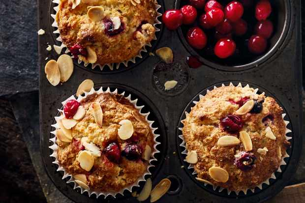 Cranberry And Almond Muffins