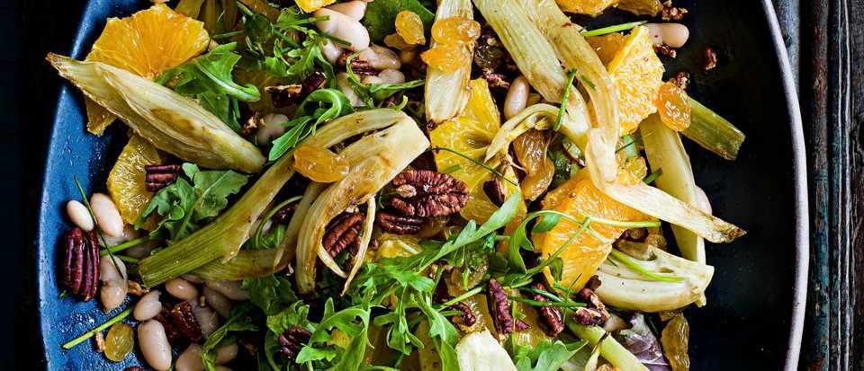 Cannellini Bean Salad Recipe with Orange And Raisins