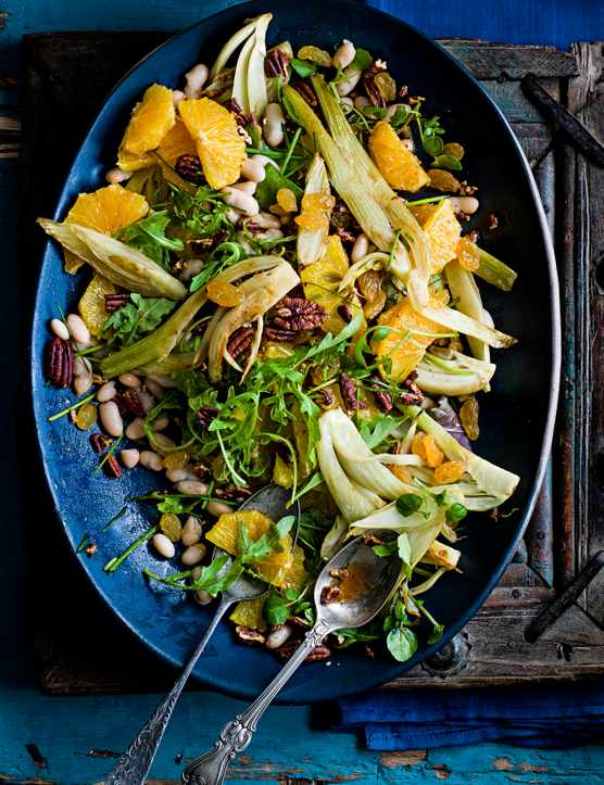 Cannellini Bean Salad Recipe with Orange And Raisins
