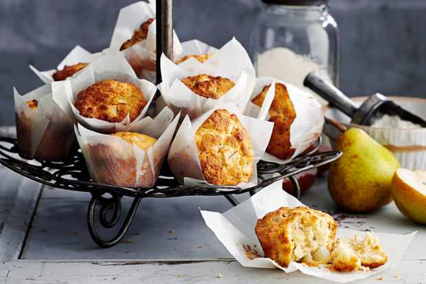 Pear, saffron and Browned Butter breakfast muffins