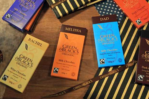 Green & Black's personalised chocolate bar