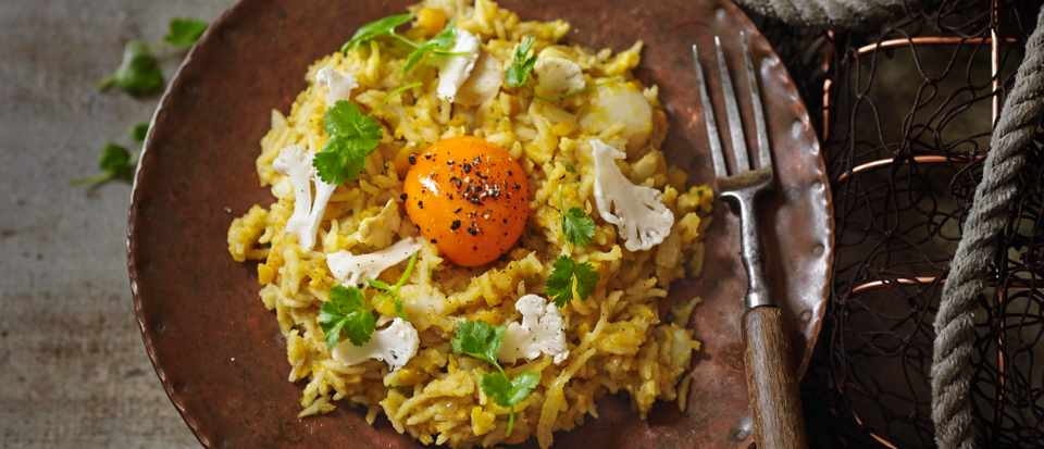 Dal Khichdi Recipe with Smoked Haddock (Indian Kedgeree)