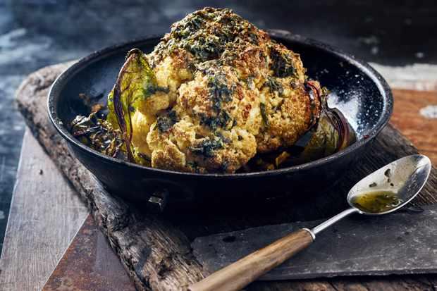 sage butter-basted roast cauliflower