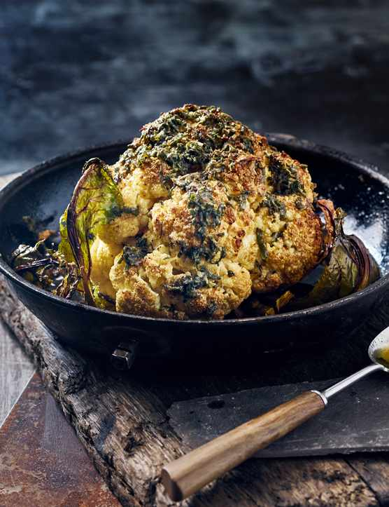 Sage Butter-Basted Roasted Cauliflower